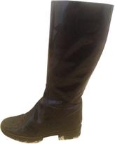 Max Mara Black patent leather boots, UK size 6