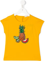 Dolce & Gabbana pineapple print T-shirt - kids - Cotton/Lurex/Polyamide/Viscose - 4 yrs
