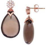 Fine Jewellery 14K Rose Gold Smokey Quartz Drop Earrings