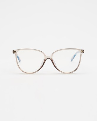 Le Specs Grey Blue Light Lenses - Eternally Blue Light Glasses - Size One Size at The Iconic