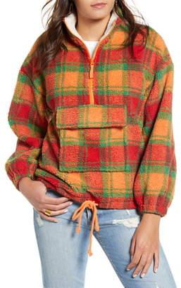 J.o.a. Quarter Zip Fleece Jacket