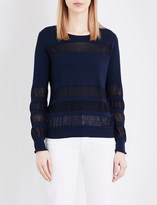 Sandro Open-knit panel jumper