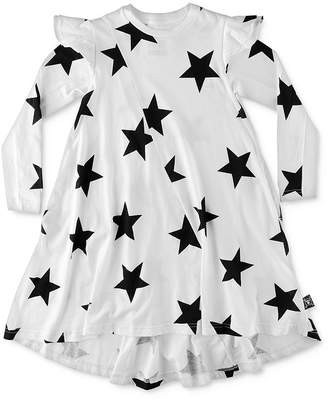 Nununu Girls' Ruffled 360 Star Print Dress - Little Kid