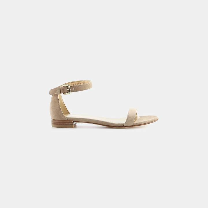 Stuart Weitzman Nudistflat Suede Ankle-Strap Sandal