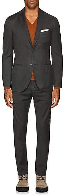 "Boglioli Men's ""K Suit"" Wool Twill Two-Button Suit - Olive"