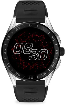 Tag Heuer Connected Modular Black Ceramic, Stainless Steel & Rubber Strap Smartwatch