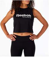 Reebok Women's Classics Graphic Cropped Tank, Black
