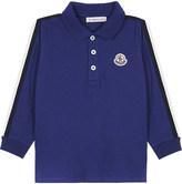 Moncler Stripe cotton polo shirt 6-36 months