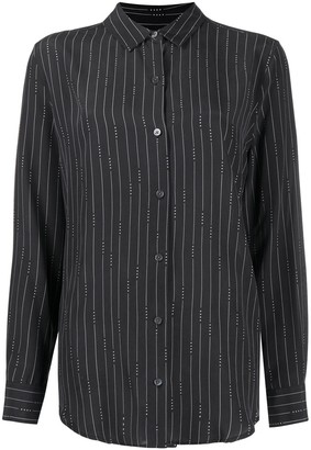 Equipment Long Sleeved Pinstripe Shirt