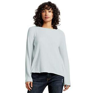 Michael Stars Women's Madaline Long Sleeve Bell Arm Ribbed Knit Sweater