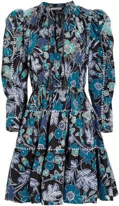 Ulla Johnson Liv Lapis Floral Patchwork Dress