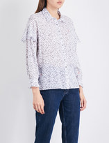 MiH Jeans Baylis ruffled-sleeve cotton-voile shirt