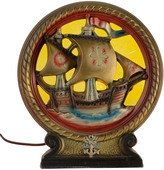 Rejuvenation IAS Co Spanish Galleon Radio Lamp C1935