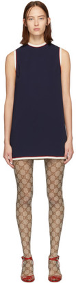 Gucci Navy Tunic Dress
