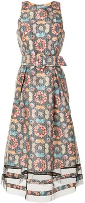 Sachin + Babi Rani Kaleidoscope-print midi dress