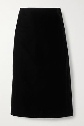 Saint Laurent Velvet Pencil Skirt - Black