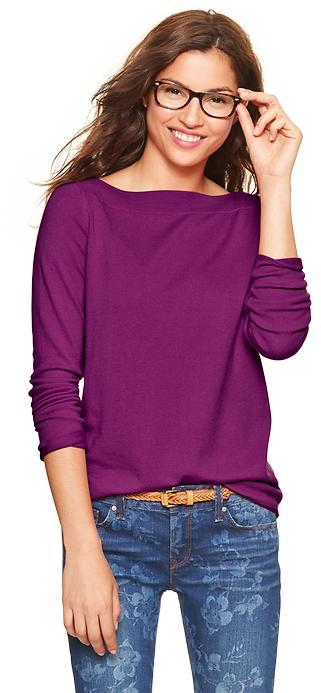 Gap Eversoft envelope-neck sweater