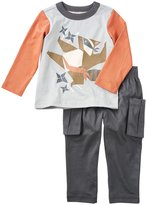 Tea Collection Tanuki Ninja Outfit (Baby) - Cement - 18-24 Months Baby - 18-24 Months