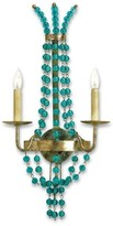 The Well Appointed House Aquamarine Glass Wall Sconce - ON BACKORDER