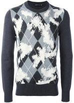 Alexander McQueen argyle worn away jumper - men - Cashmere/Wool - M