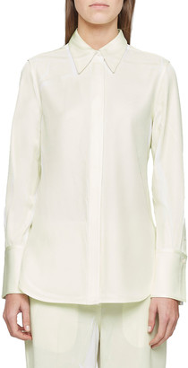 3.1 Phillip Lim Overprinted Button-Down Blouse
