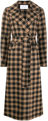 Harris Wharf London Tie-Waist Gingham Trench Coat