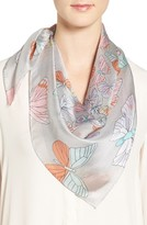 Echo Women's Butterfly Print Square Silk Scarf