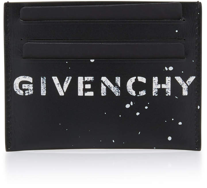 Givenchy Graffiti Logo Leather Card Case