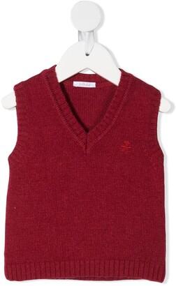 Le Bebé Enfant Logo-Embroidered Sweater Vest