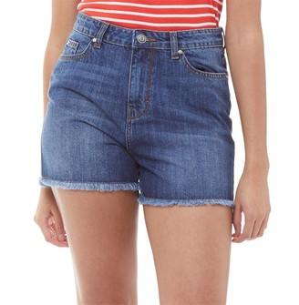 Fluid Womens Denim Shorts Blue Denim