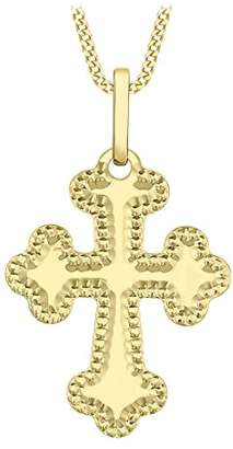 Carissima Gold 9ct Yellow Gold Orthodox Cross Pendant Necklace of 45.72cm