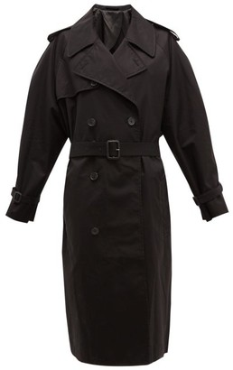 Wardrobe NYC Release 04 Double-breasted Gabardine Trench Coat - Black
