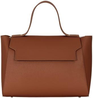 Cara The Top Handle Tote Leather Bag Tan