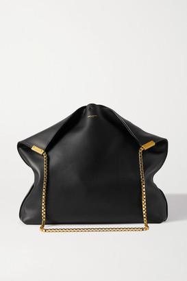 Saint Laurent Suzanne Medium Leather Shoulder Bag - Black