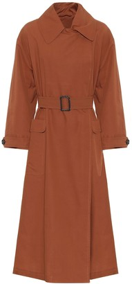 Max Mara The Cube cotton and silk trench coat