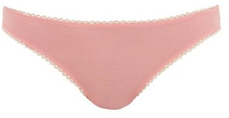 Araks Stella Organic-cotton Thong - Light Pink