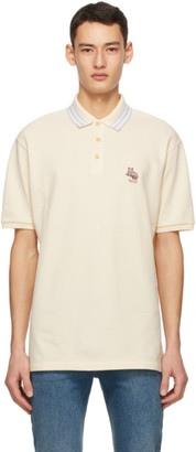 Gucci Off-White Pique Cat Patch Polo