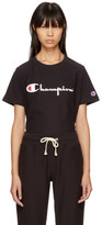Champion Reverse Weave Black Logo Longline T-Shirt