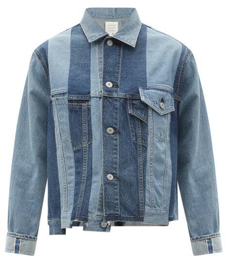 Kuro Patchworked Denim Jacket - Denim