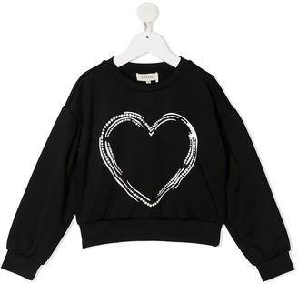 Twin-Set Heart Print Sweatshirt