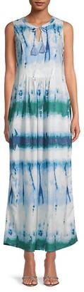 BeachLunchLounge Karmarin Ditsy Floral Sleeveless Midi Dress