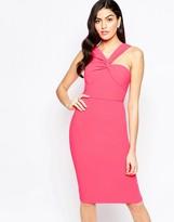 Forever Unique Aisha Aisha Midi dress with One Shoulder Detail
