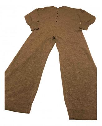 Suoli Grey Wool Jumpsuits