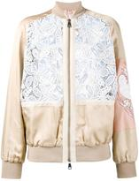 No.21 macrame lace bomber jacket