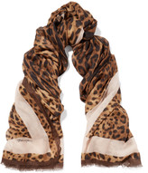 Dolce & Gabbana Leopard-print modal and cashmere-blend scarf