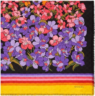Gucci Degrade Floral Print Scarf