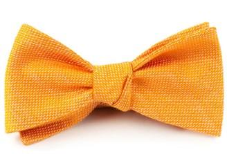 The Tie BarThe Tie Bar Tangerine Solid Linen Bow Tie