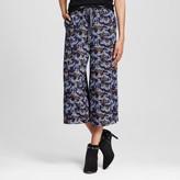 Xhilaration Women's Leopard Crop Pant Navy Juniors')