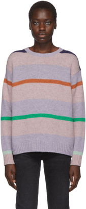 Acne Studios Purple Shetland Striped Sweater