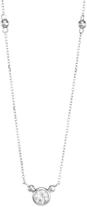 Anzie Rhodium-Plated Sterling Silver & White Topaz Pendant Necklace